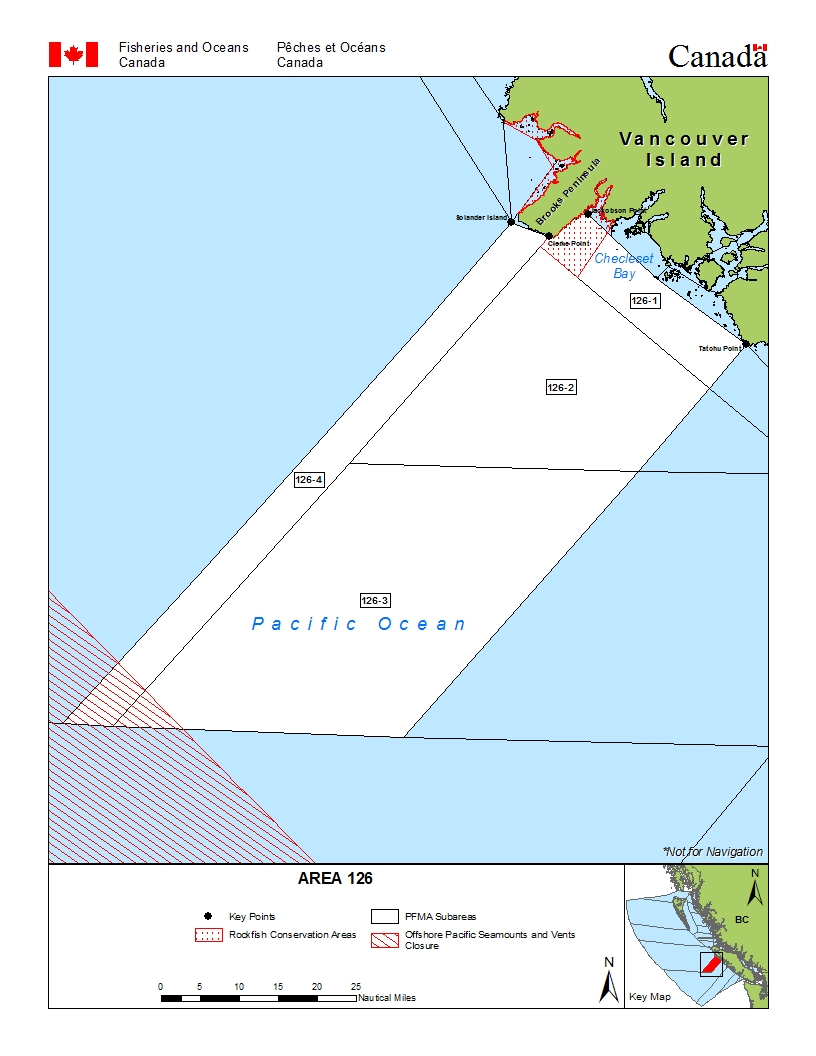 Fisheries Management Area 126 Open Water Southwest Of Clerke Point