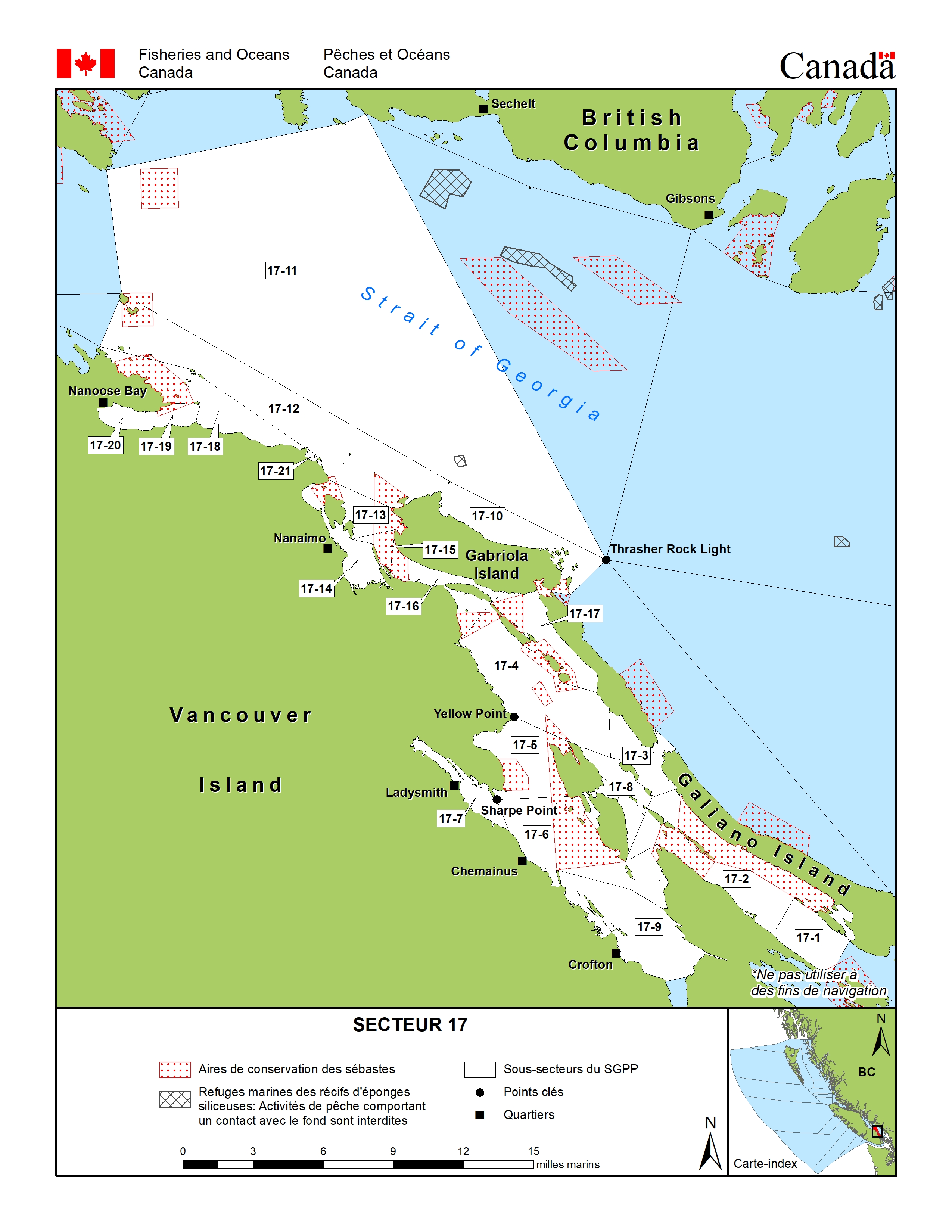 carte de peche 17 Secteur 17 (Nanaimo)   Guide de la pêche sportive de la Colombie