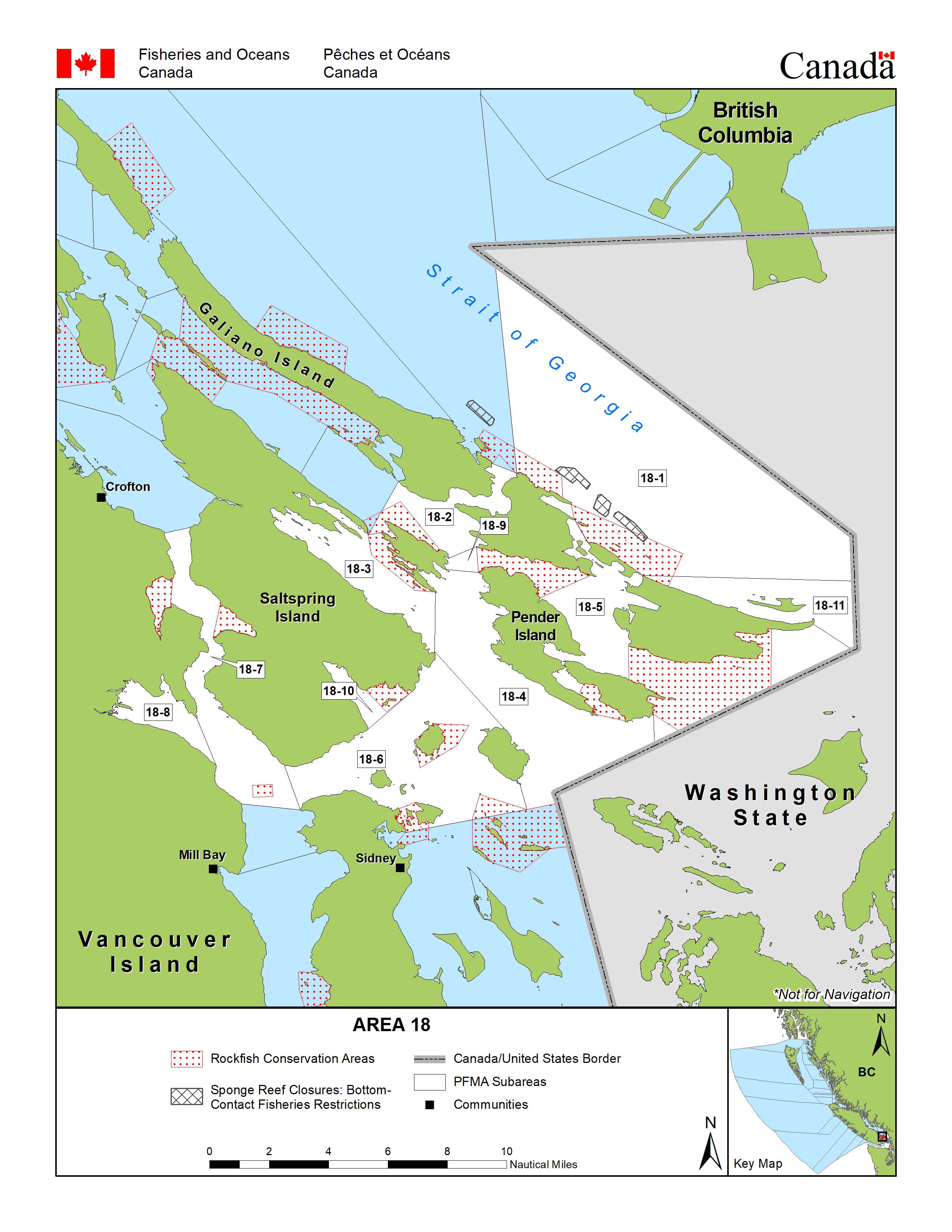 Area 18 (Saltspring, Pender, Mayne and Saturna Islands, and