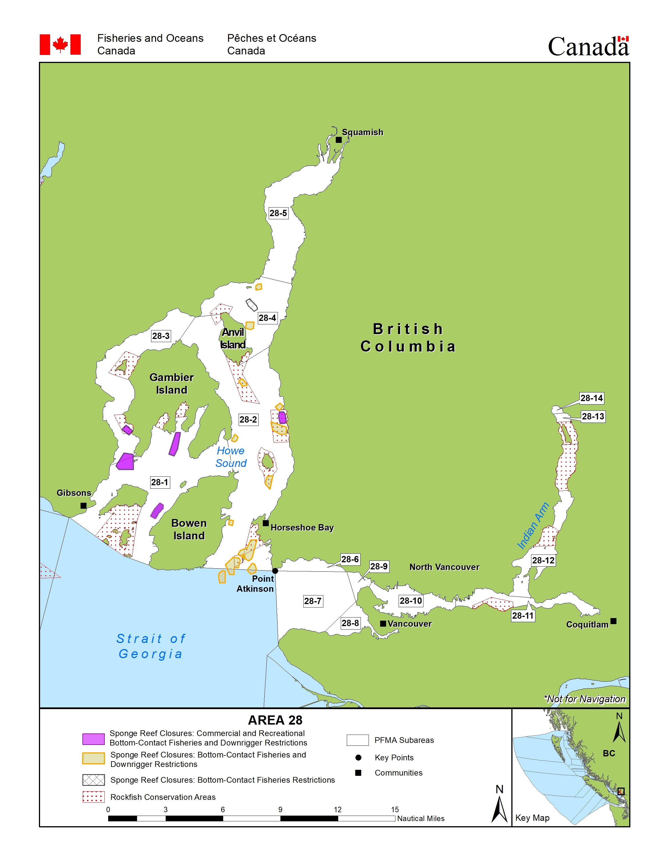 Bowen Island Canada Map Area 28 (Vancouver, Bowen Island, Indian Arm, Squamish)   BC Tidal