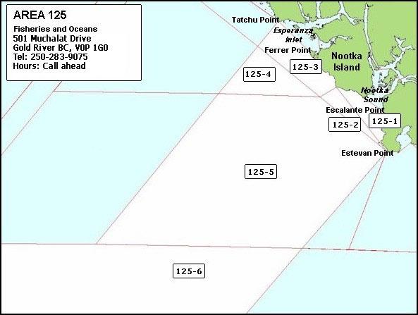 Area 125 - Offshore Nootka Island