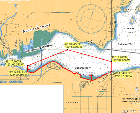 Eastern Burrard Inlet B C Rockfish Conservation Area Pacific Region Fisheries And Oceans Canada