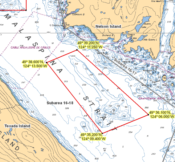 Area 16 (Sechelt Inlet, Jervis Inlet, Texada Island) - BC Tidal